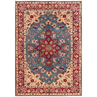 """Isfahan Mahal Vintage Persian Rug, 3'6"""" x 5'1"""""""