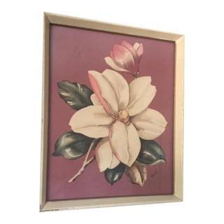 Vintage 1940's Magnolia Blooming Print
