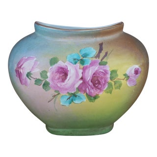 Vintage Hand Painted Pillow Vase