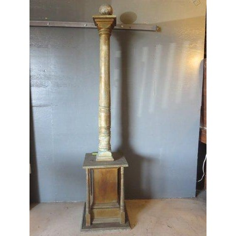 Vintage 1960's Gold Architectural Columns - Pair - Image 3 of 5