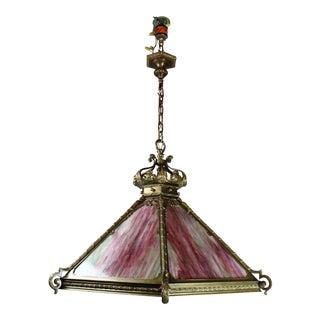 Monumental Italian Renaissance Revival Tiffany Style Fixture