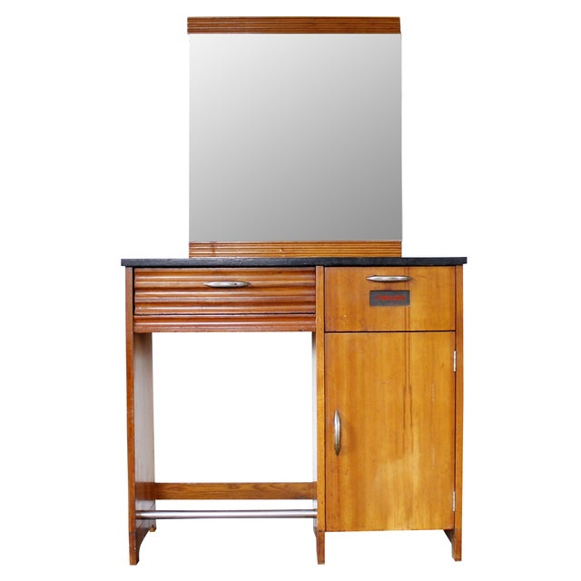Antique Art Deco Doctor's Cabinet with Mirror - Image 1 of 11