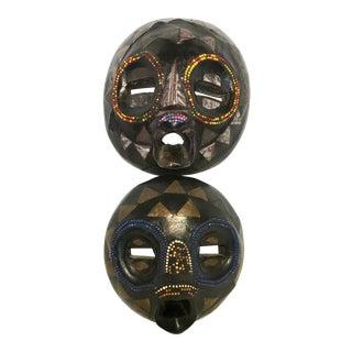 Ghana Baluba Moon Masks - A Pair