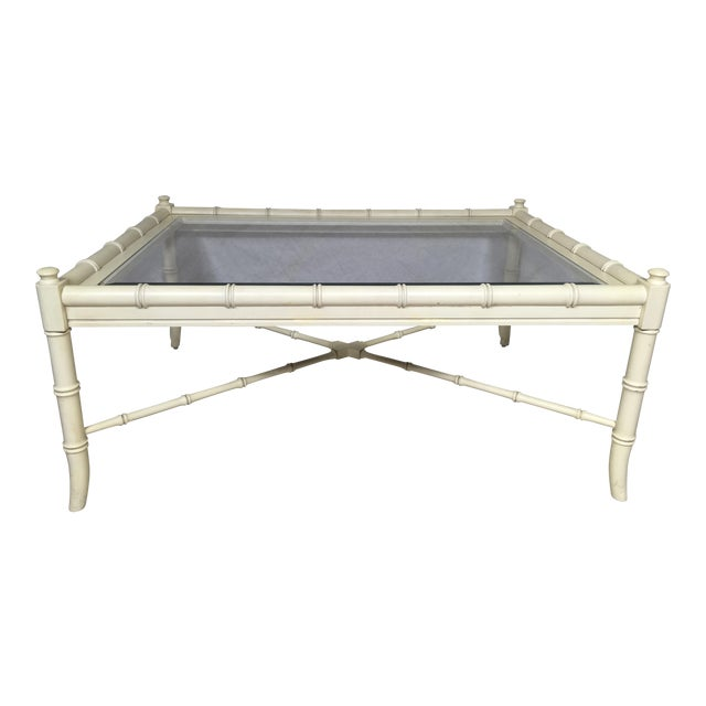 Thomasville Faux Bamboo Coffee Table Chairish