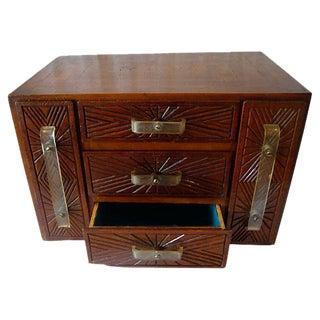 Vintage Art Deco Wood Inlay Box