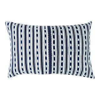 """Indigo Ikat Guatemalan Pillow - 24"""" X 16"""""""