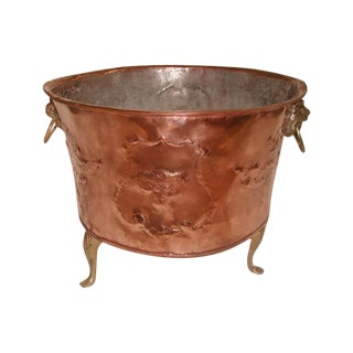 English Hand-Forged Copper Planter