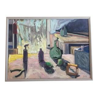 Vintage Interior Still Life Painting