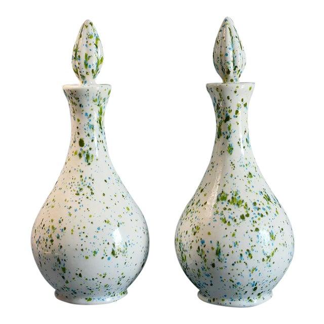 Speckled Ceramic Vases - A Pair - Image 1 of 5