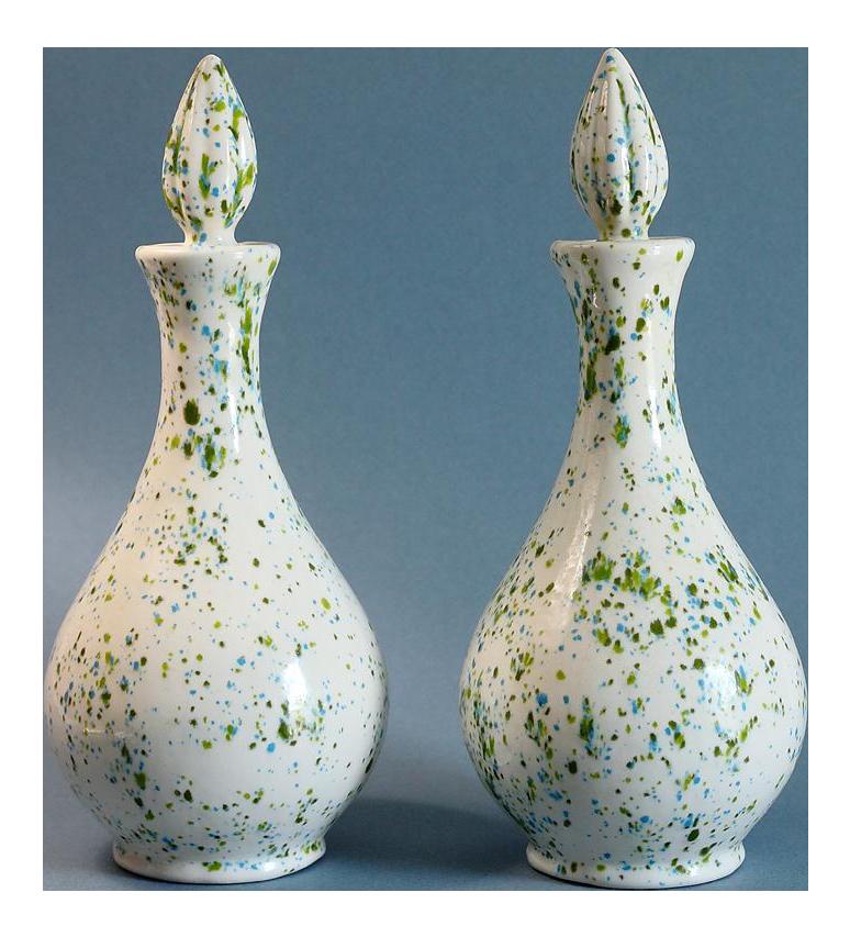 speckled ceramic vases a pair
