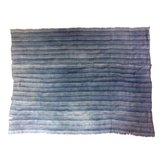 Vintage Indigo Striped African Textile