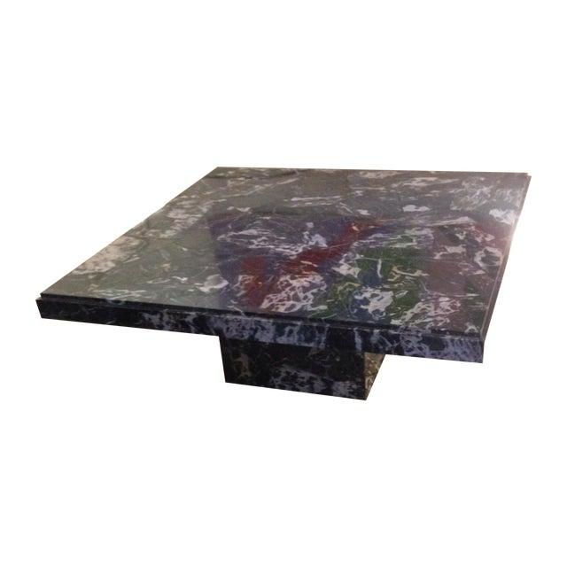 Italian Black Marble Coffee Table - Image 1 of 8