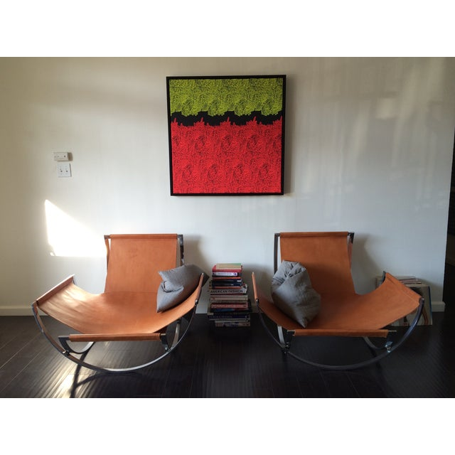 Charles Stendig Leather Lounge Chairs - A Pair - Image 8 of 8