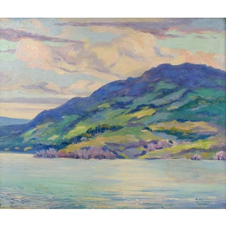 Simon Michael Impressionist Lakeview Painting