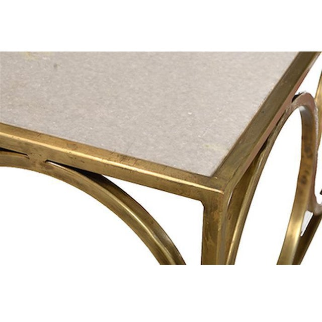 Steel Coffee Table Circles: Marble & Brass Circles Coffee Table