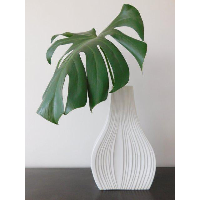 White Modernist Bisque Porcelain Naaman Onion Vase - Image 2 of 11
