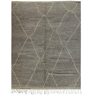 "Taupe Moroccan Berber Rug, 9'7"" x 12' 10"""