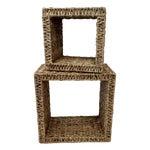Image of Sea Grass Shadow Box Shelves- A Pair
