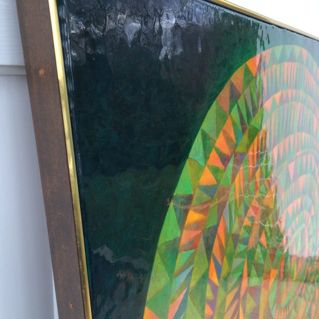 Large Mid-Century Modern Abstract Painting - Image 6 of 12