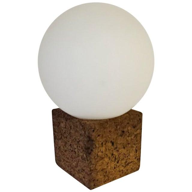 Mid-Century Modern Danish Cork Table Lamp - Image 1 of 4