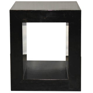 Black Open Side Table