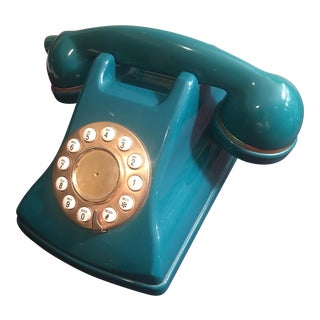 Vintage Teal Green Telephone