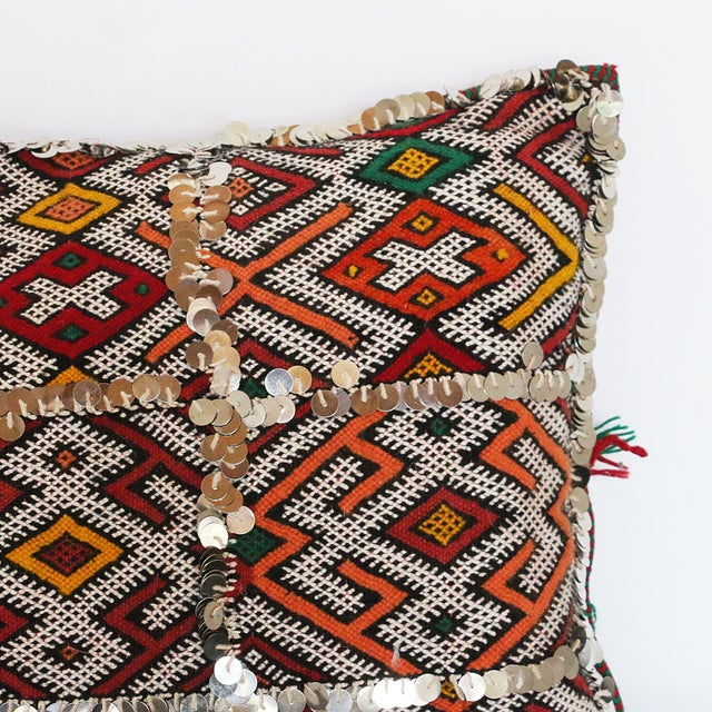 Handcrafted Moroccan Kilim Pillow I - Image 7 of 7