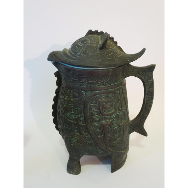 Image of Mayan Motif Ice Bucket & Pitcher - A Pair