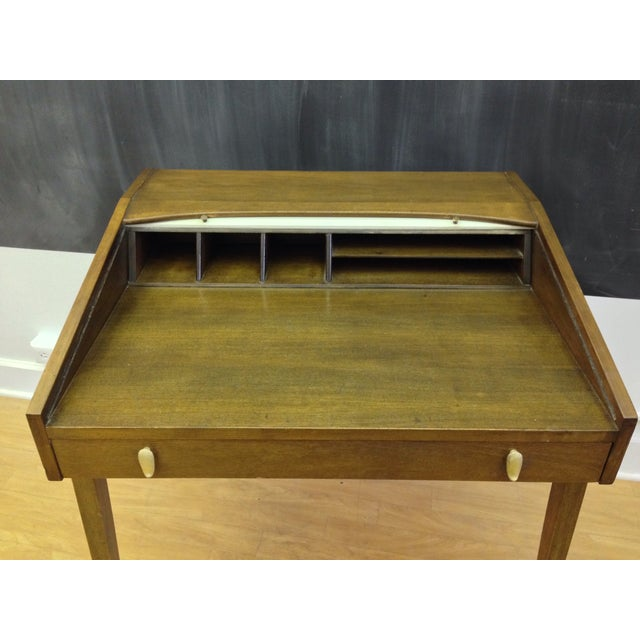 Drexel John Van Koert Roll Top Desk & Chair - Image 6 of 9