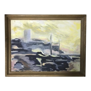 French Abstract Pastels Painting