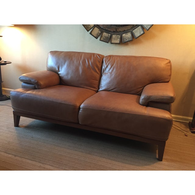 Designer Leather Couch - Image 2 of 5