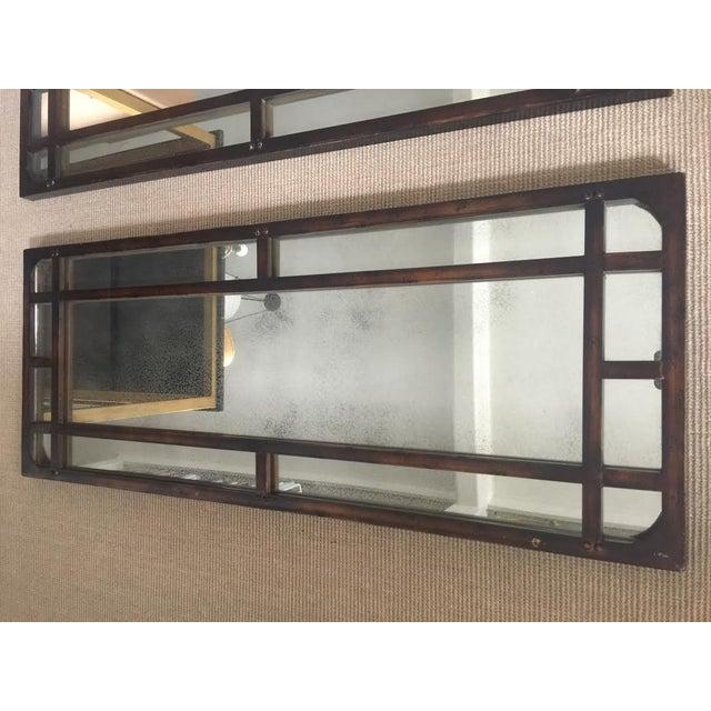 Image of Iron Antiqued Mirrors - Set of 3