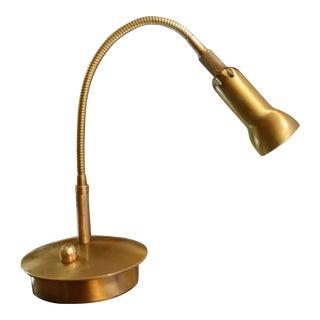 Levenger Brass Gooseneck Reading Lamp
