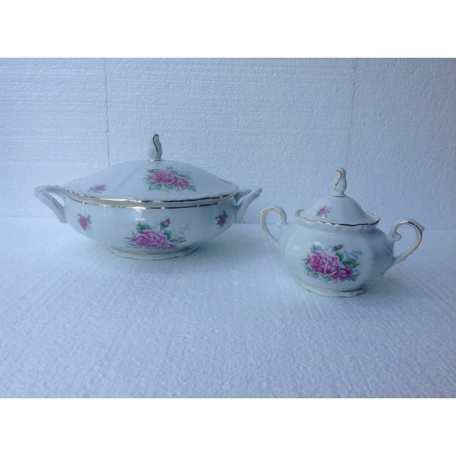 Bavarian Pink Rose China Set - Set of 84 - Image 7 of 8