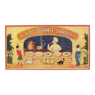 French Vintage Food Poster, Petit Gourmet Sannoisien
