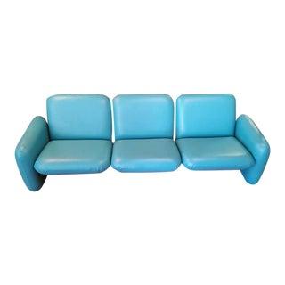 Herman Miller Bright Blue Chicklet Sofa