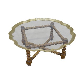 Quality Brass & Glass Tray Top Coffee Table
