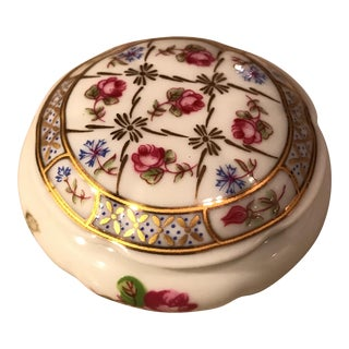Antique Limoges Castel Porcelain Trinket Pill Box