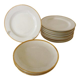 Limoges Gold Rim Bread & Butter Plates - Set of 12