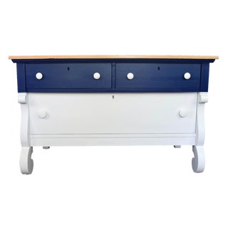 Blue & White Empire Tv Stand, Dresser