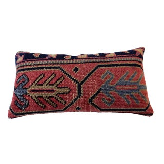 Antique Caucasian Fragment Lumbar Pillow