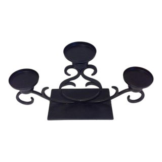 Black Iron Candelabra Centerpiece