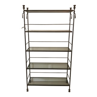 Silver Iron & Glass Etagere