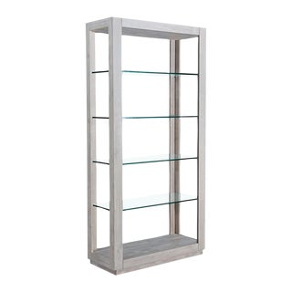 Solid Wood Coastal Chic Bookcase