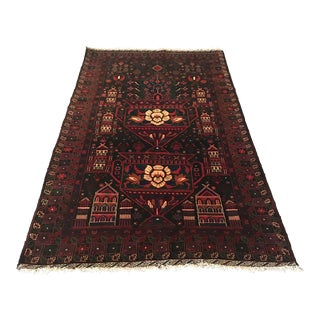 Vintage Persian Baluch Rug - 3'8 X 6'7