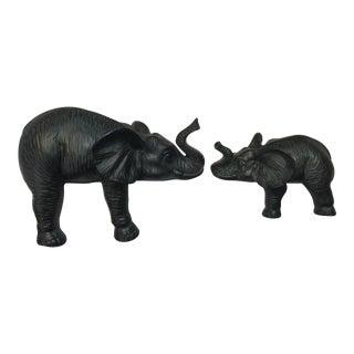 Elephant Ledge Figurines - A Pair