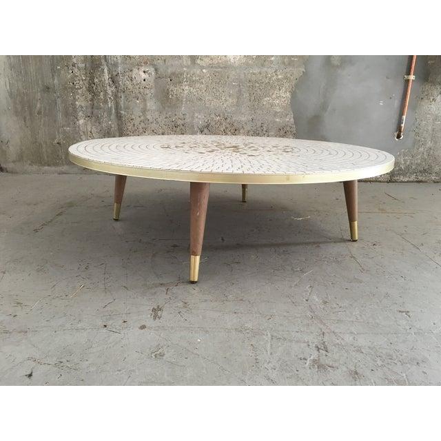 Mid Century Modern Mosaic Tile Coffee Table