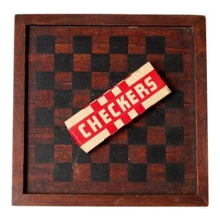 Vintage Hal-Sam Primitive Checkers Board