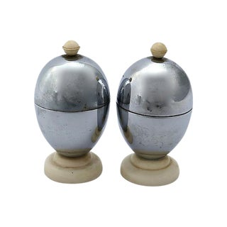 1950s English Chrome Egg Cups - A Pair