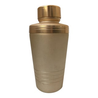 Vintage Matte Gold Cocktail Shaker